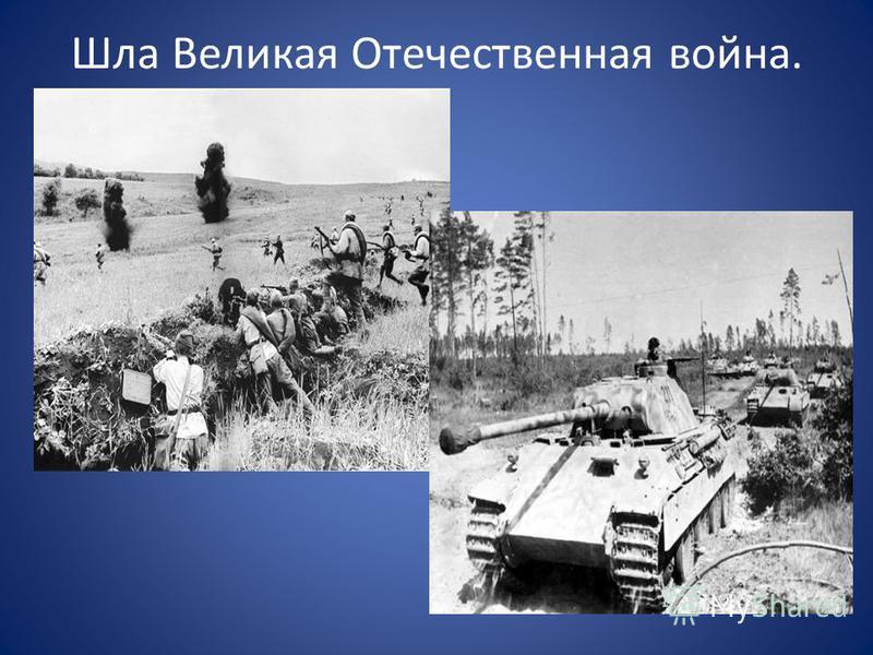 Шла Великая Отечественная война.