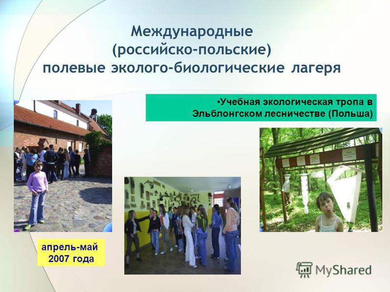 Международные (российско-польские) полевые эколого-биологические лагеря Учебная экологическая тропа в Эльблонгском лесничестве (Польша) апрель-май 2007 года