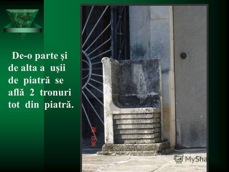 Institutor AURICA MARTIN Şcoala Andrei Şaguna Deva Uşile laterale sunt prevăzute cu grilaje simbolizând soarele.