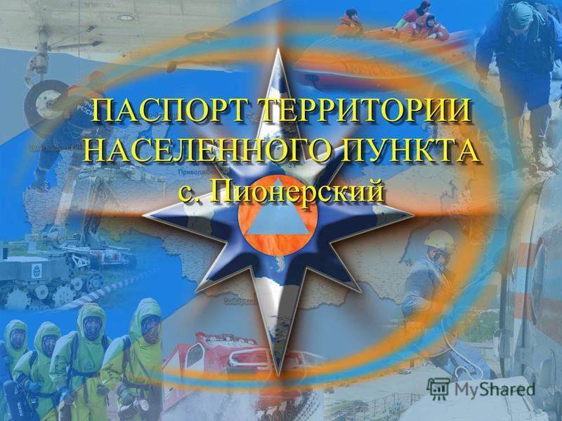 ПАСПОРТ ТЕРРИТОРИИ НАСЕЛЕННОГО ПУНКТА с. Пионерский