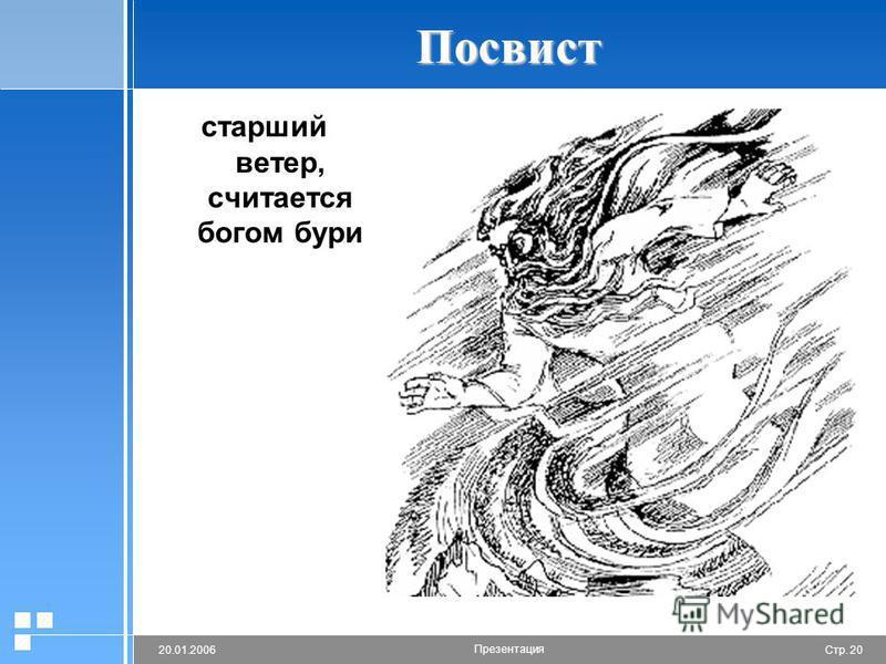 Стр. 2020.01.2006 Презентация Посвист старший ветер, считается богом бури