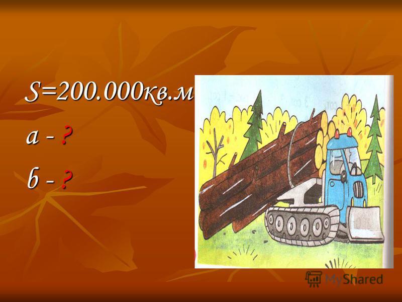 S=200.000 кв.м a - ? b - ?