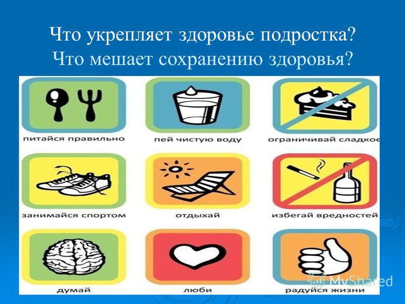 Что укрепляет здоровье подростка? Что мешает сохранению здоровья?