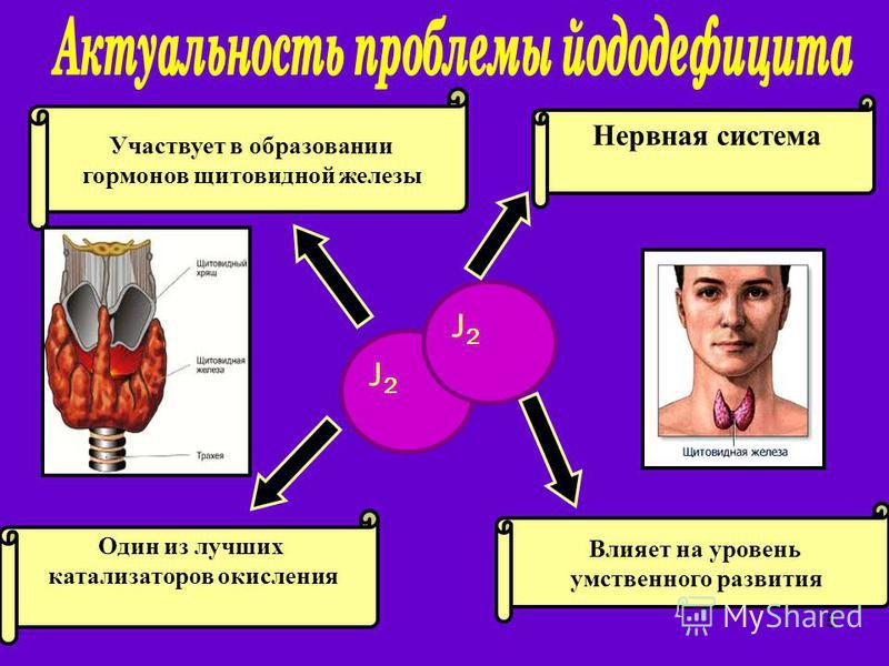 5 J2J2 J2J2 Влияет на уровень умственного развития Участвует в образовании гормонов щитовидной железы Нервная система Один из лучших катализаторов окисления