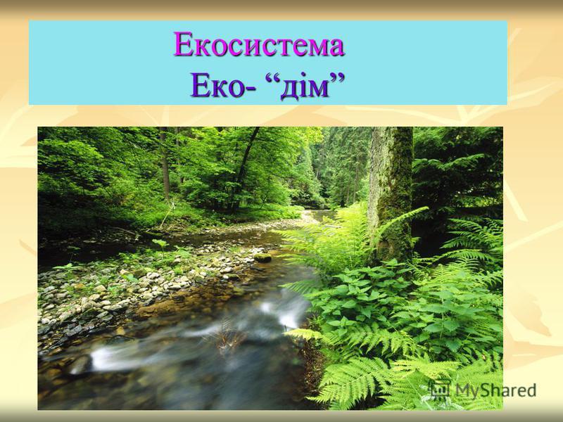 Екосистема Еко- дім Екосистема Еко- дім