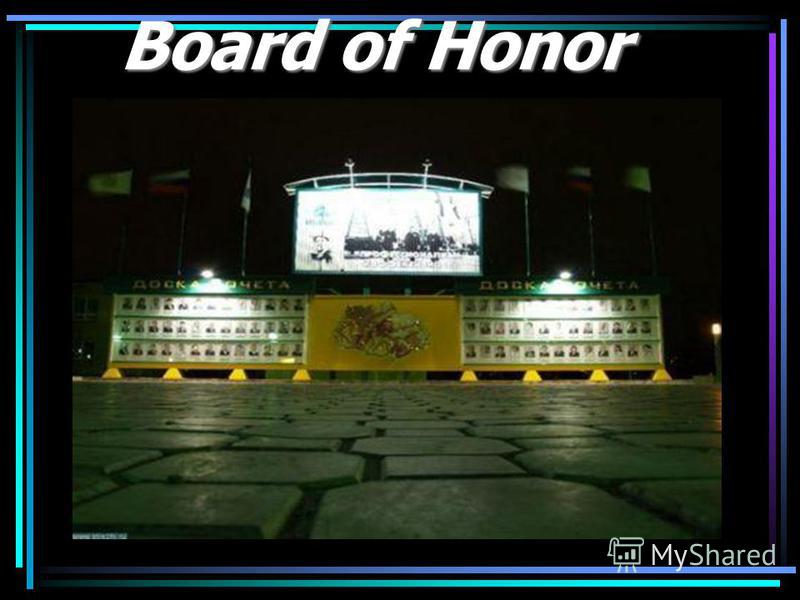 Board of Honor