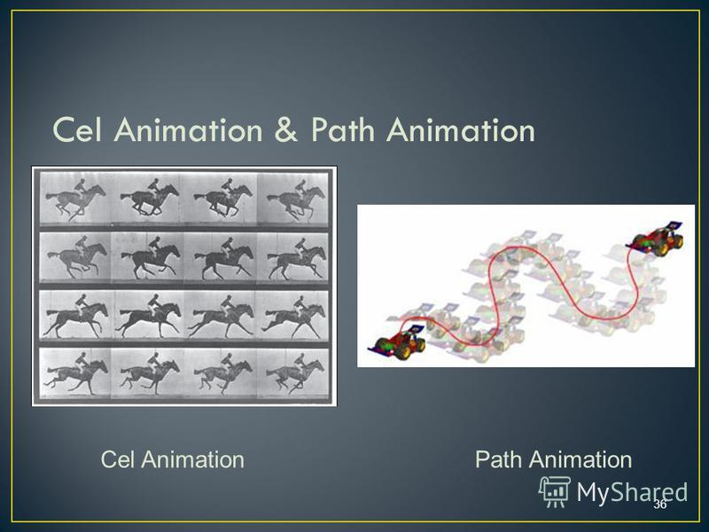 36 Cel Animation & Path Animation Cel Animation Path Animation