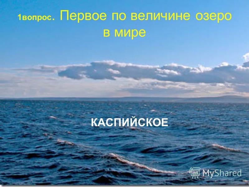 1 вопрос. Первое по величине озеро в мире КАСПИЙСКОЕ
