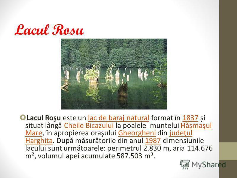 Lacul Sf. A na Lacul Sfânta Ana este un lac vulcanic, fiind singurul astfel de lac de pe întreg teritoriul României. Este situat în masivul Ciomatu, de pe stânga Oltului, în apropiere de Tuşnad. Lacul este aşezat pe fundul craterului unui vulcan stin