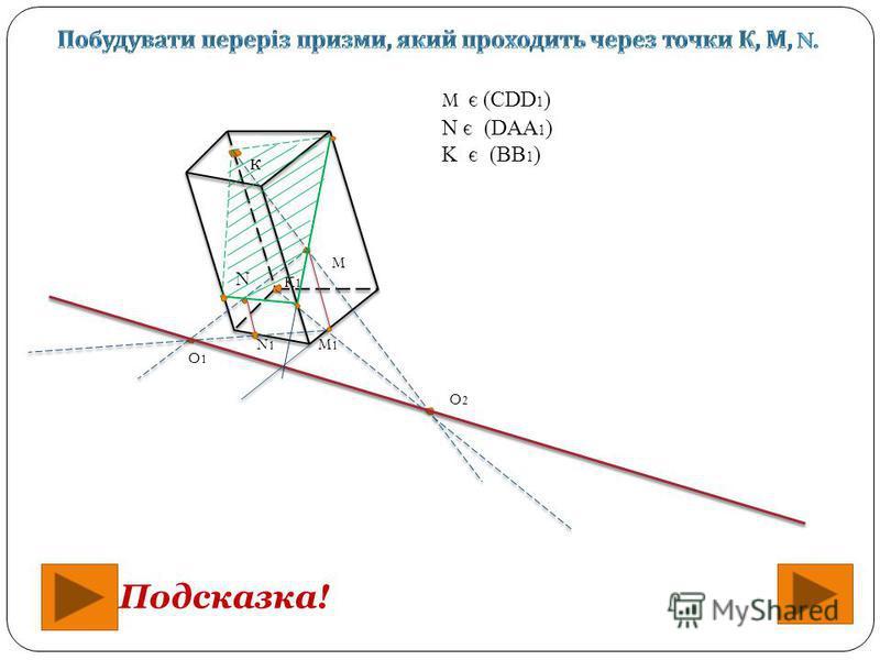 Подсказка! к M N O1O1 K1K1 O2O2 N1N1 M1M1 M є (CDD 1 ) N є (DAA 1 ) K є (BB 1 )
