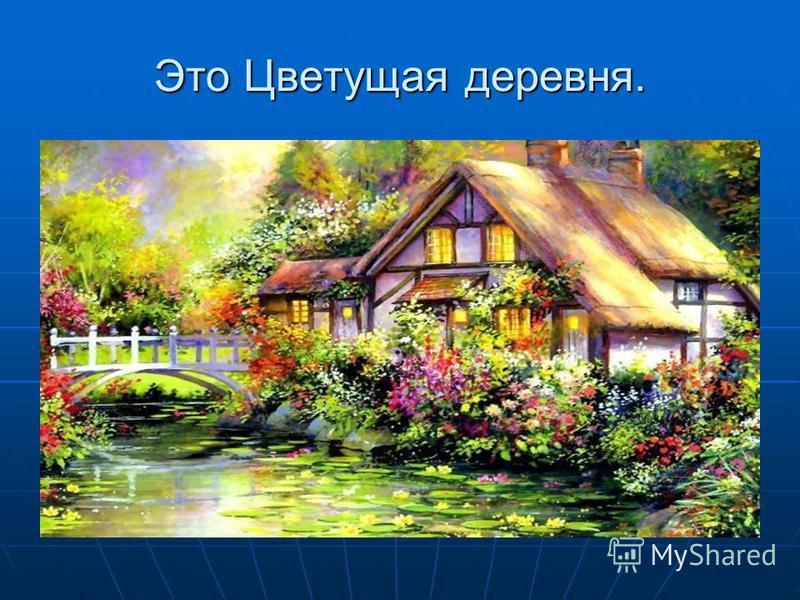 Это Цветущая деревня.