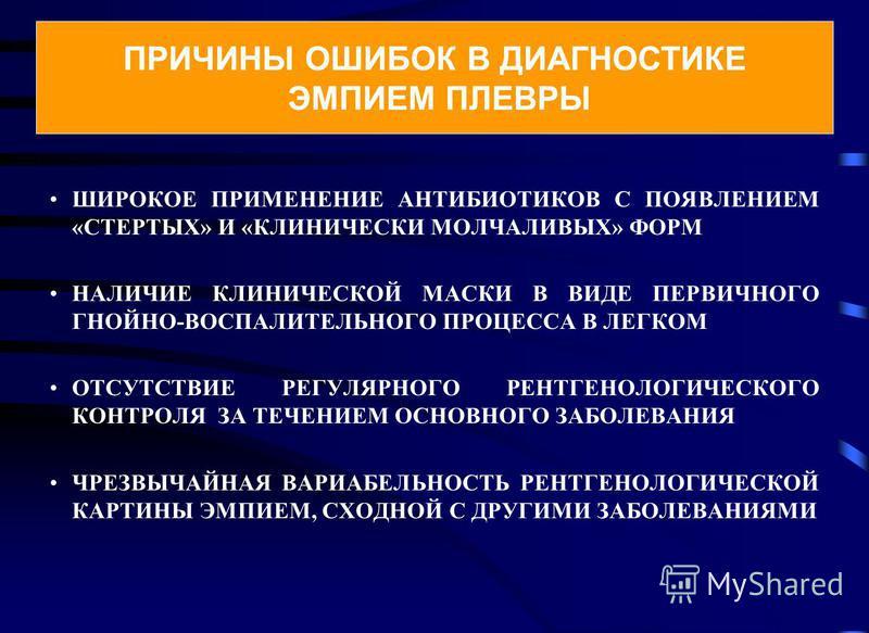 ШИРОКОЕ ПРИМЕНЕНИЕ АНТИБИОТИКОВ С ПОЯВЛЕНИЕМ «СТЕРТЫХ» И «КЛИНИЧЕСКИ МОЛЧАЛИВЫХ» ФОРМ НАЛИЧИЕ КЛИНИЧЕСКОЙ МАСКИ В ВИДЕ ПЕРВИЧНОГО ГНОЙНО-ВОСПАЛИТЕЛЬНОГО ПРОЦЕССА В ЛЕГКОМ ОТСУТСТВИЕ РЕГУЛЯРНОГО РЕНТГЕНОЛОГИЧЕСКОГО КОНТРОЛЯ ЗА ТЕЧЕНИЕМ ОСНОВНОГО ЗАБОЛ