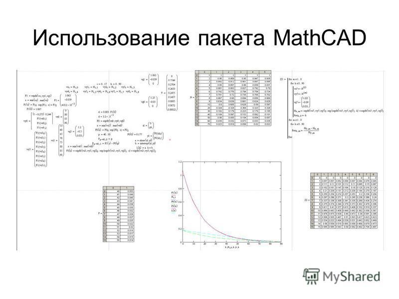Использование пакета MathCAD