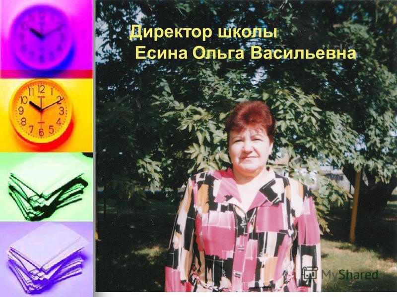 Директор школы Есина Ольга Васильевна
