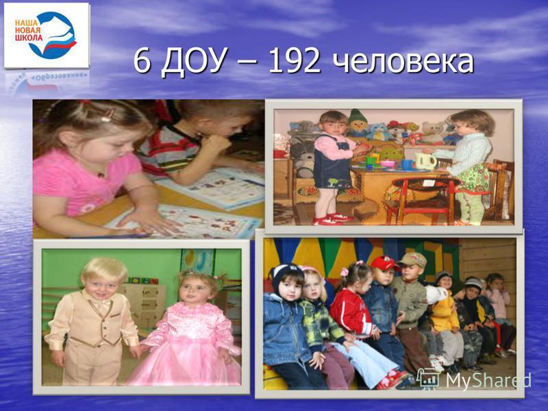 25 6 ДОУ – 192 человека