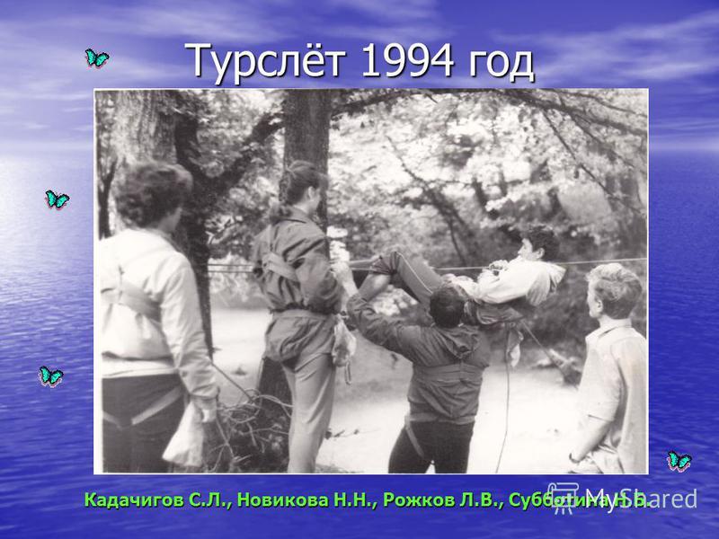 Турслёт 1994 год Кадачигов С.Л., Новикова Н.Н., Рожков Л.В., Субботина Н.Б.