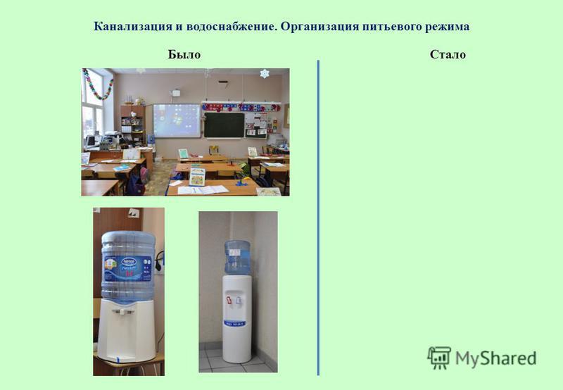 Канализация и водоснабжение. Организация питьевого режима Стало Было