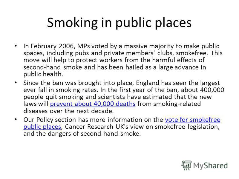 banning smoking in public places opinion essay write my research  banning smoking in public places opinion essay
