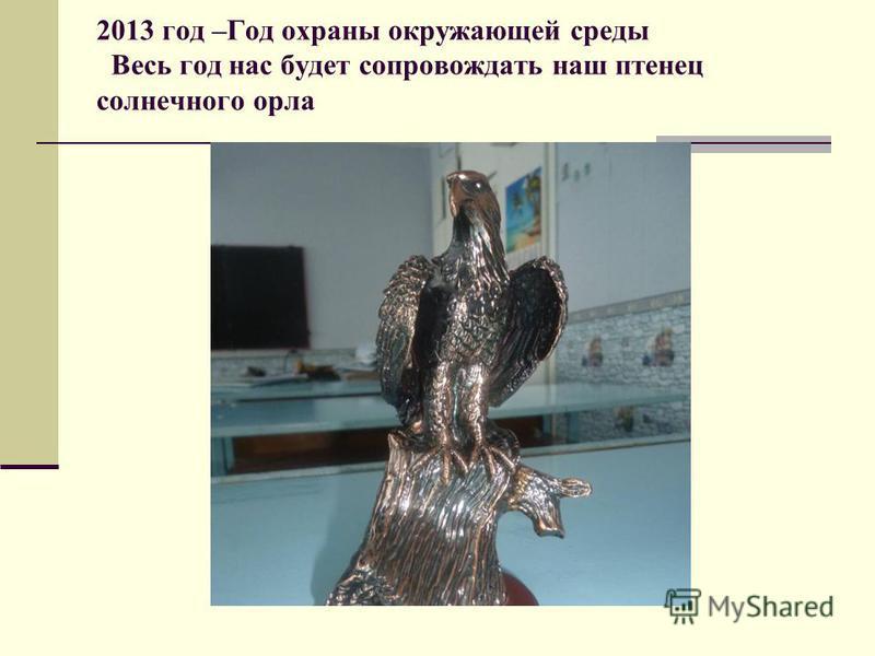 2013 год –Год охраны окружающей среды Весь год нас будет сопровождать наш птенец солнечного орла