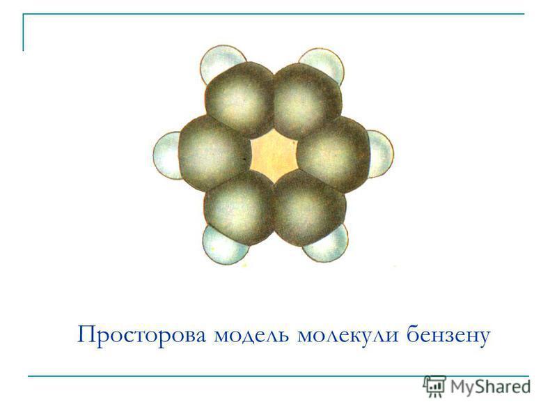 Просторова модель молекули бензену