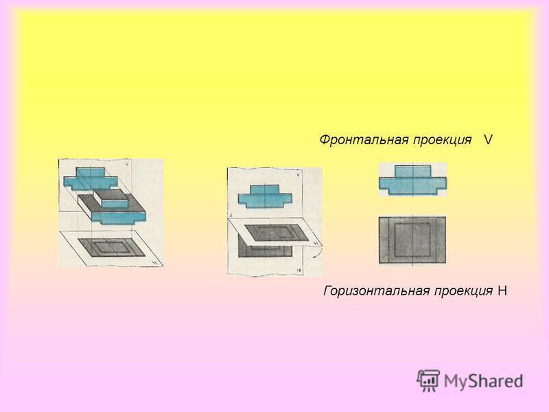 Фронтальная проекция V Горизонтальная проекция Н