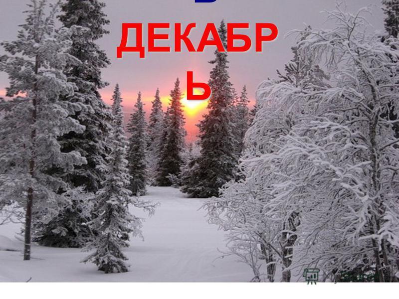 ДЕКАБР Ь