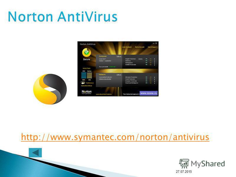 http://www.symantec.com/norton/antivirus 27.07.2015