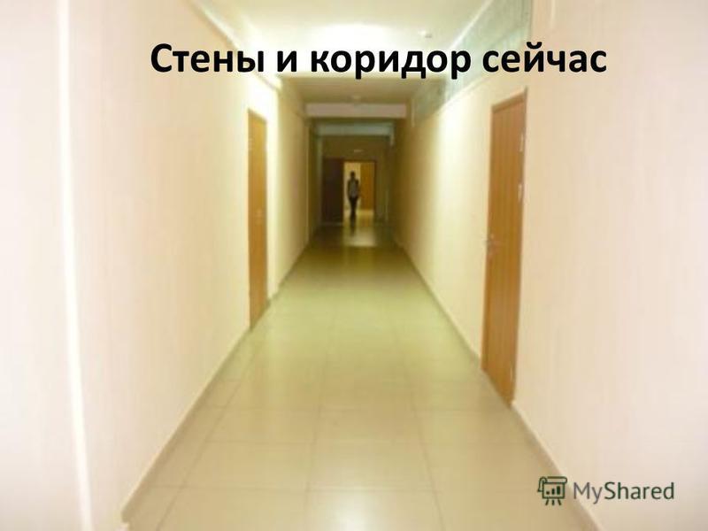 Стены и коридор сейчас