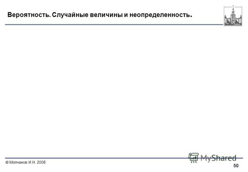 50 Молчанов И.Н. 2008 Вероятность. Случайные величины и неопределенность.
