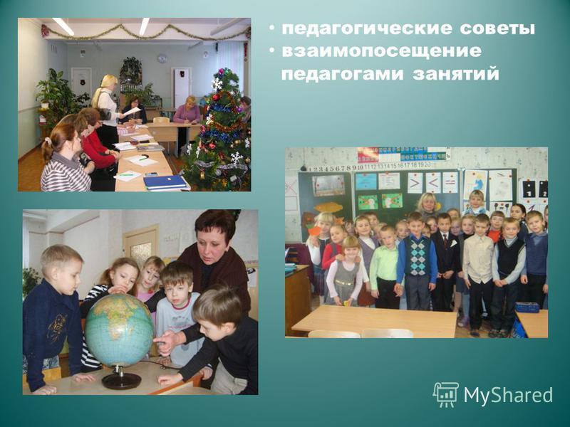 педагогические советы взаимопосещение педагогами занятий