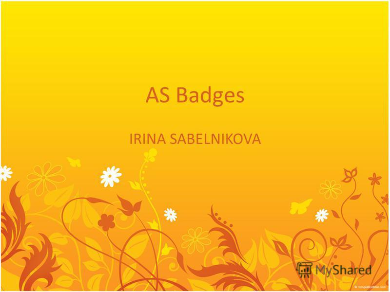 AS Badges IRINA SABELNIKOVA