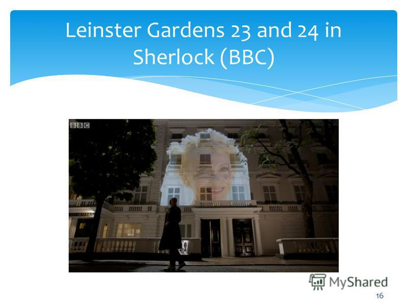 Leinster Gardens 23 and 24 in Sherlock (BBC) 16