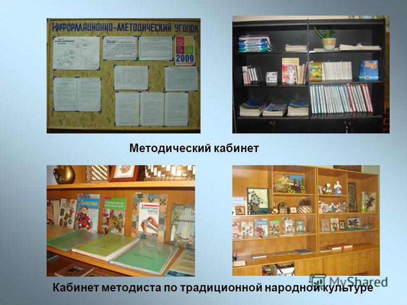 Методический кабинет Кабинет методиста по традиционной народной культуре