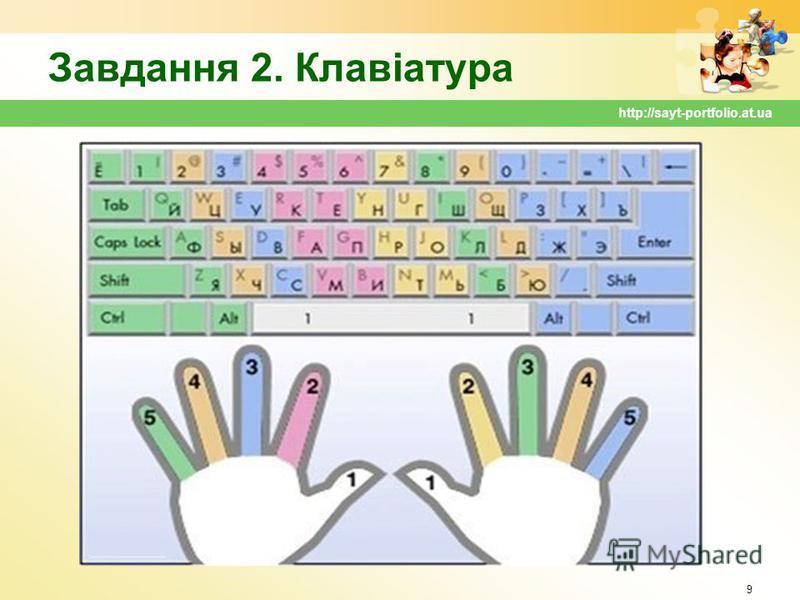 Завдання 2. Клавіатура 9 http://sayt-portfolio.at.ua