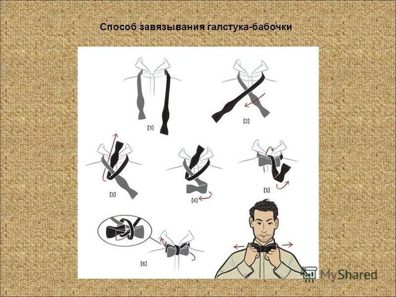 Способ завязывания галстука-бабочки