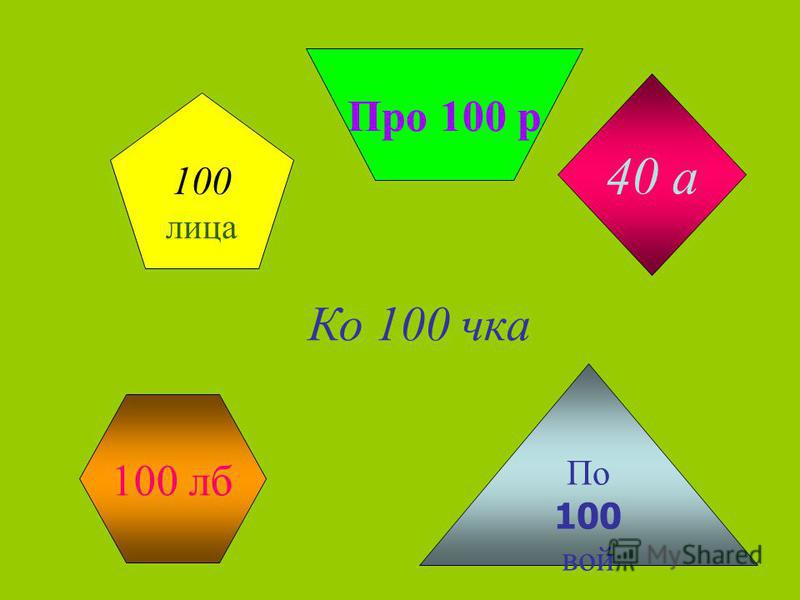 100 лица 40 а Про 100 р По 100 вой Ко 100 чка 100 лб