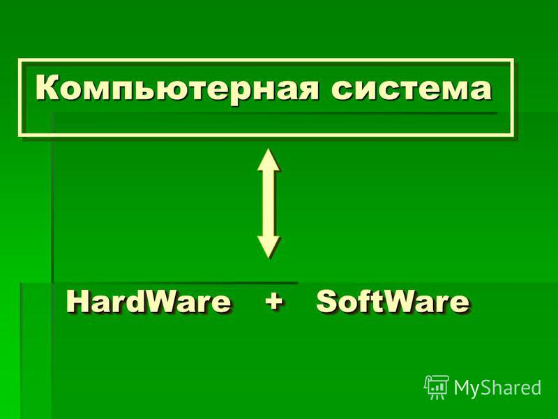 Компьютерная система HardWare + SoftWare