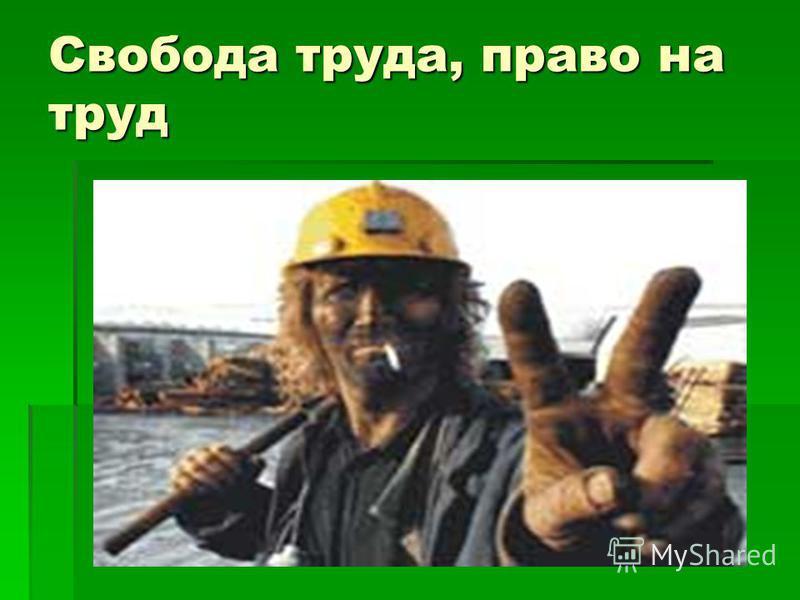 Свобода труда, право на труд