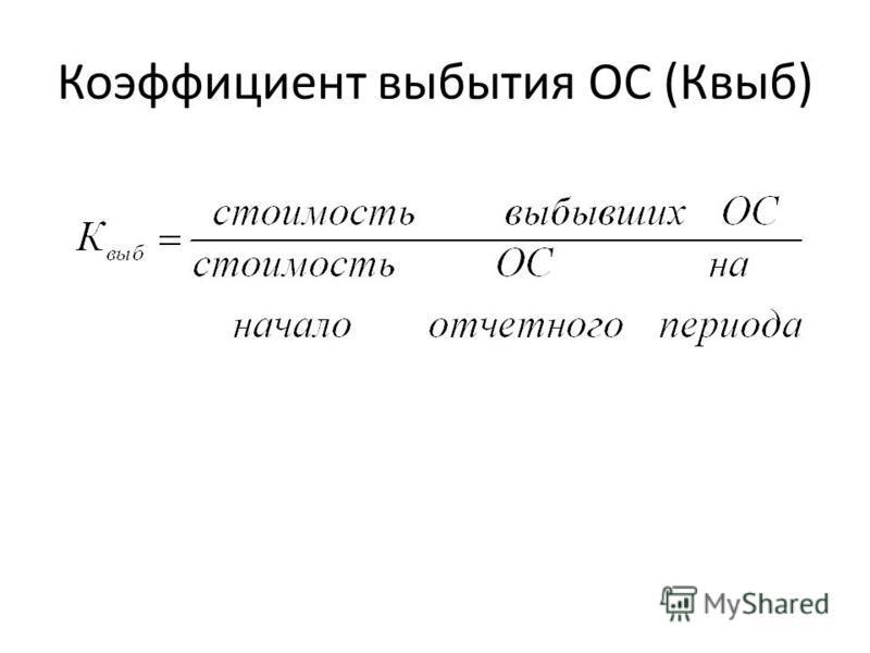 Коэффициент выбытия ОС (Квыб)