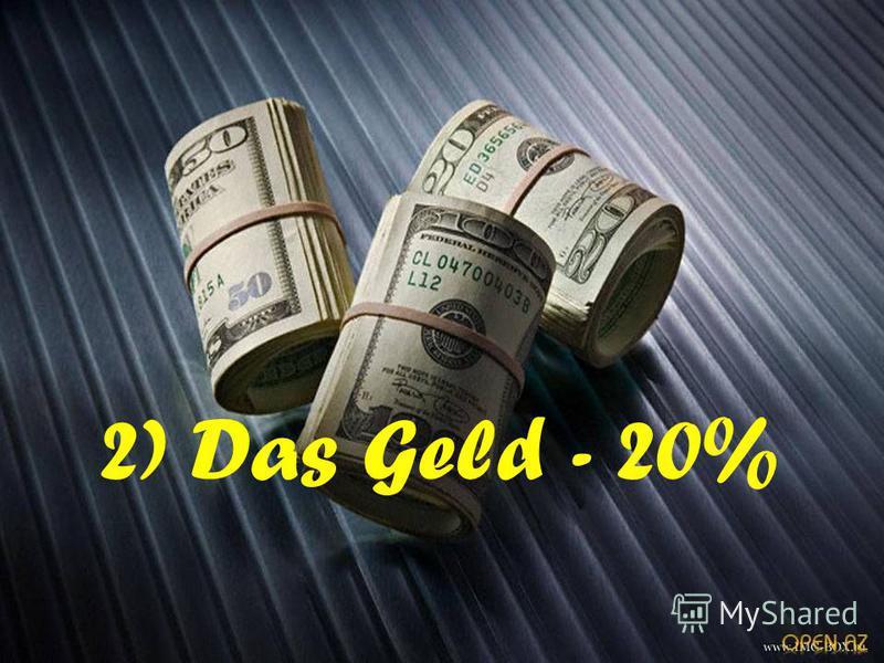 2) Das Geld - 20%