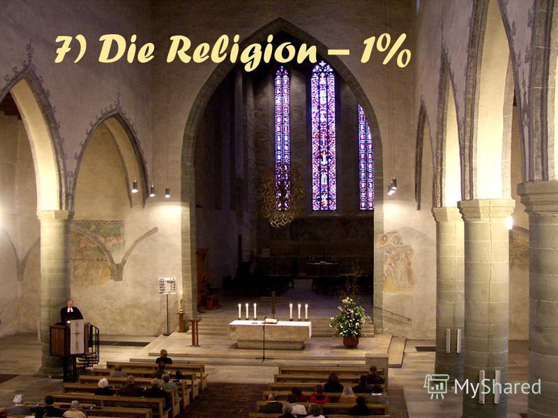 7) Die Religion – 1%