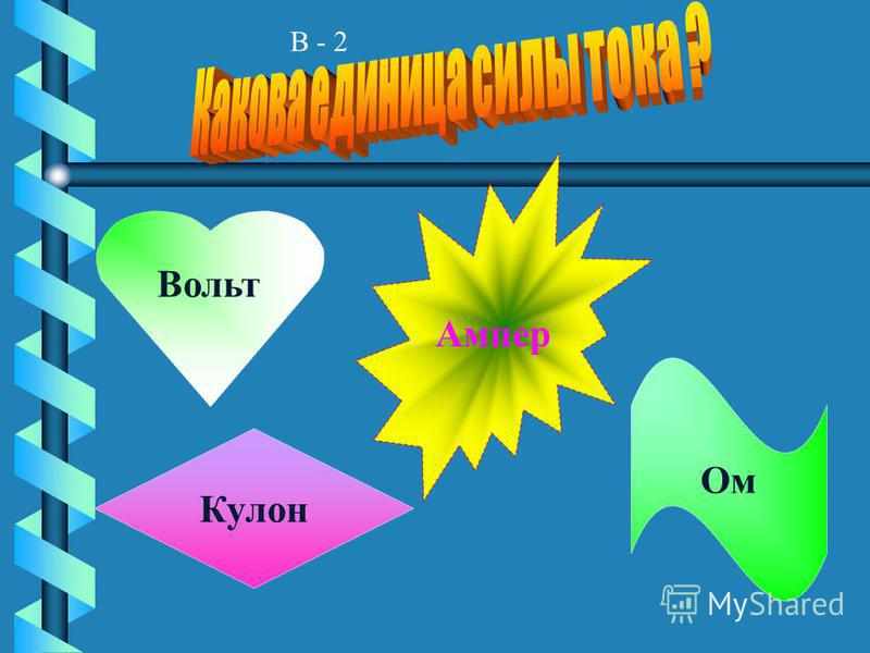 В - 1 Ом Кл Кг в