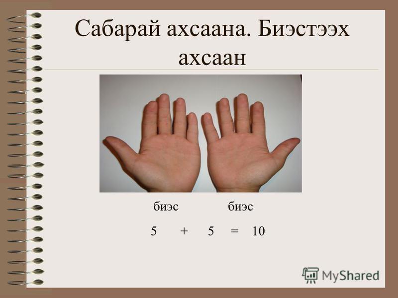 Сабарай ахсаана. Биэстээх ахсаан биэс 5 + 5 = 10