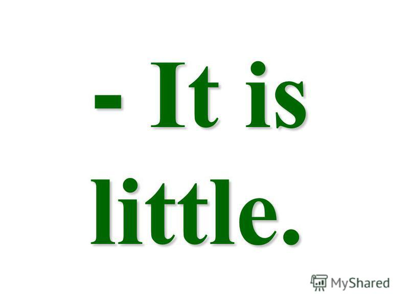 - It is little. - It is little.