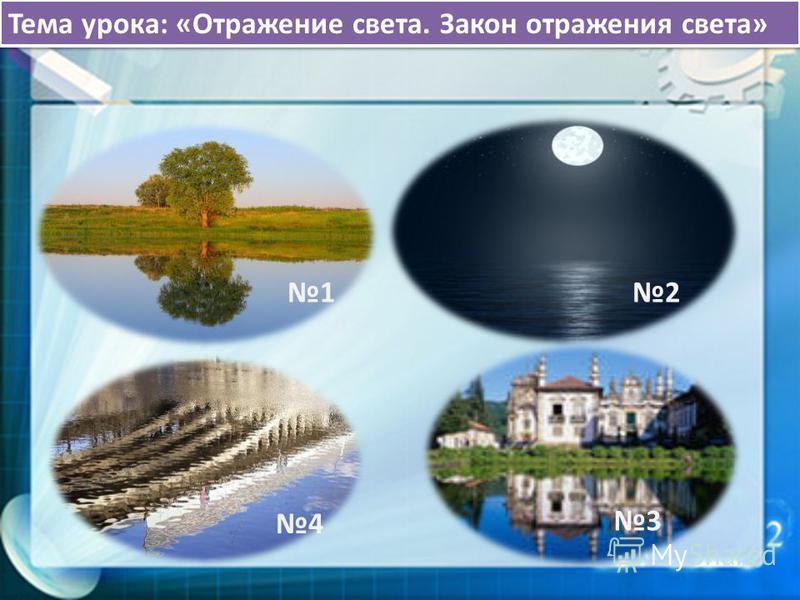 21 4 Тема урока: «Отражение света. Закон отражения света» 3