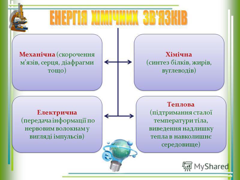 Метаболізм Катаболізм (дисиміляція) Катаболізм (дисиміляція) Анаболізм (асиміляция) Анаболізм (асиміляция) Тваринні і рослинні білки, ліпіди, вуглеводи, вода Розпад органічних речовин для отримання енергії Побудова і ріст організму О2О2 Н2ОН2О Утворе
