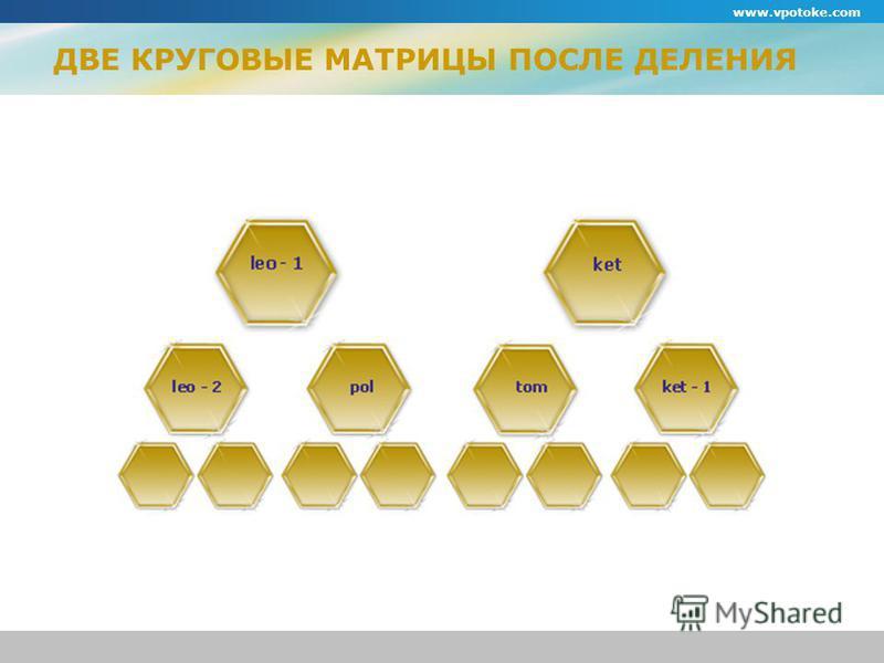 ДВЕ КРУГОВЫЕ МАТРИЦЫ ПОСЛЕ ДЕЛЕНИЯ www.vpotoke.com
