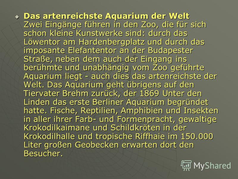Das Tierreich wurde 1844 auf Initiative der Zoologen Alexander v. Humboldt und Martin Lichtenstein gegründet und war damit der erste Zoo Deutschlands. Mit Hilfe des Gartenkünstlers Peter Joseph Lenné und namhaften Baumeistern entstand ein attraktives