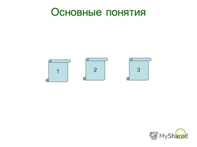 Основные понятия 1 23