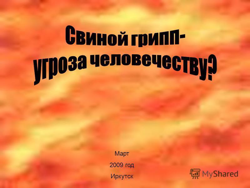 Март 2009 год Иркутск